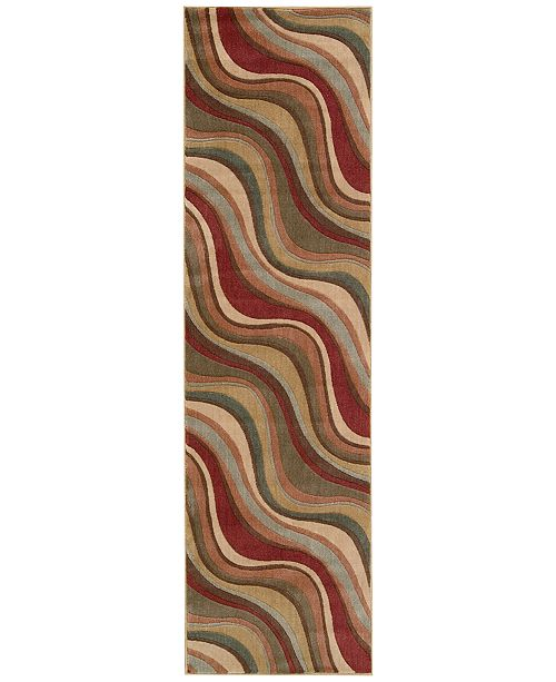 "Nourison CLOSEOUT! Somerset Wave 2'3"" x 8' Runner Rug"