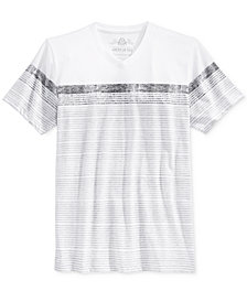 American Rag Men's Stripe V-Neck T-Shirt, Created for Macy's