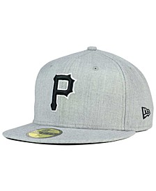 Pittsburgh Pirates Heather Black White 59FIFTY Fitted Cap