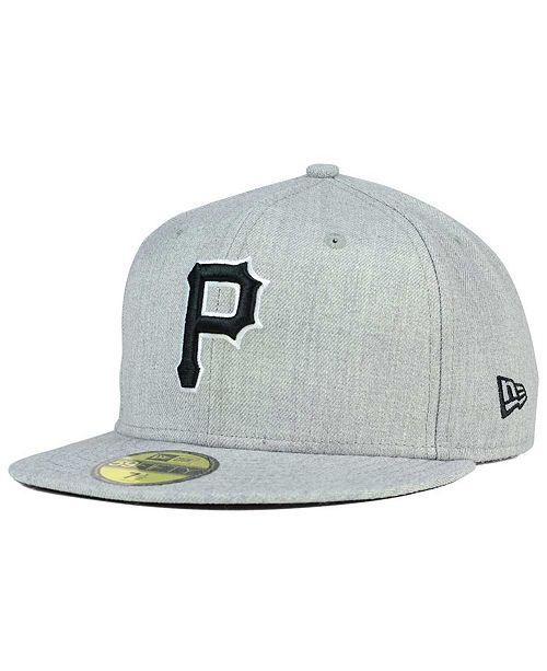 ... New Era Pittsburgh Pirates Heather Black White 59FIFTY Fitted Cap ... 137cc0f8339d