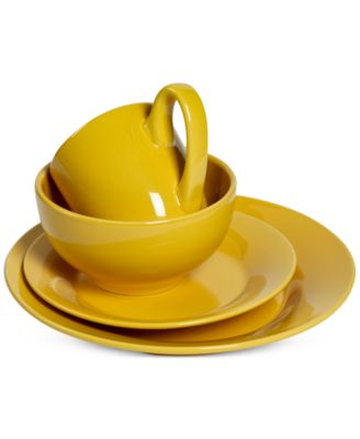 main image  sc 1 st  Macyu0027s & Tabletops Unlimited Corsica Collection 4-Pc. Yellow Place Setting ...