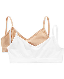 Maidenform 2-Pack Crop Bras, Little Girls & Big Girls