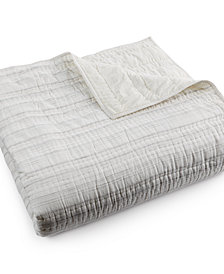 CLOSEOUT! Hotel Collection Linen Fog Full/Queen Quilted Coverlet, Created for Macy's