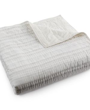 Hotel Collection Linen Fog Quilted King Coverlet Created for Macys Bedding