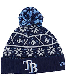 New Era Tampa Bay Rays Sweater Chill Pom Knit Hat