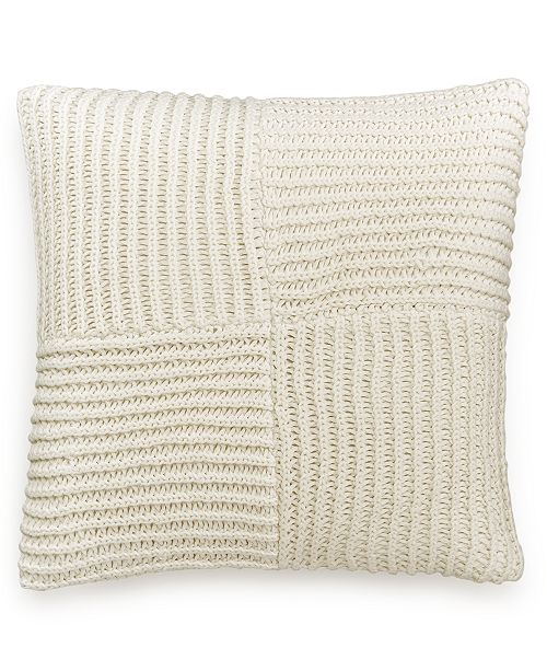 "Hotel Collection Waffle Weave 20"" Square Decorative Pillow, Created for Macy's"