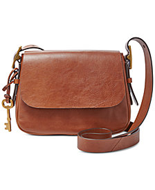 Fossil  Harper Leather Small Saddle Crossbody