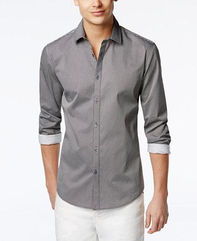 Alfani Men's Hillsboro Slim Print Long-Sleeve Shirt, Created for Macy's