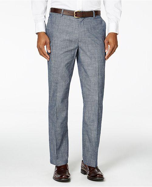 Tasso Elba Men's Chambray Pants, Created for Macy's