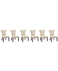 Sophia Dining Parsons Chair, Set of 6 (Natural)