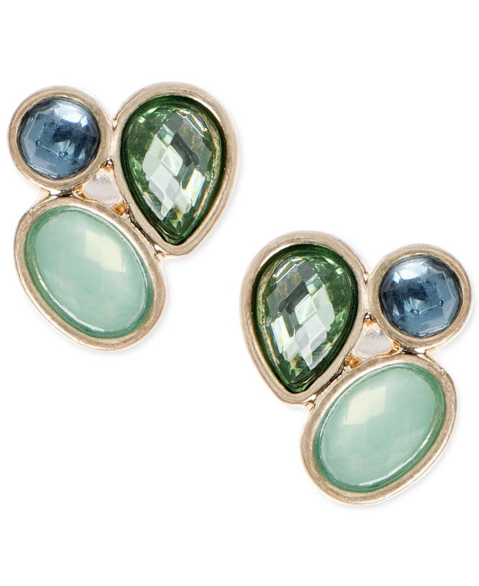 lonna & lilly - Gold-Tone Stone Cluster Stud Earrings