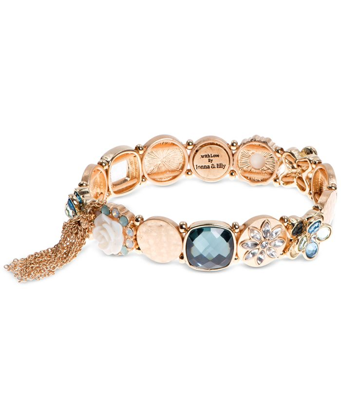 lonna & lilly - Gold-Tone Multi-Crystal Link Bracelet