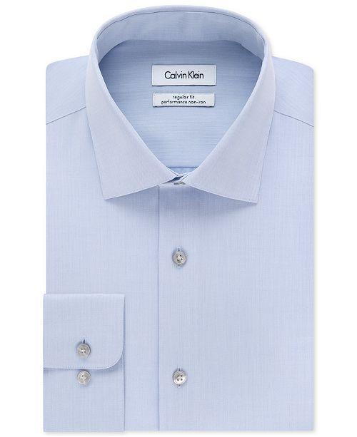 58808f9a ... Calvin Klein Men's Big & Tall X Extra-Slim Fit Performance Non-Iron  Dress ...