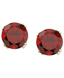 14k Gold Garnet Stud Earrings (4 ct. t.w.)