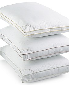 Tossed Logo Print Density Down Alternative Gusset Pillows, Hypoallergenic
