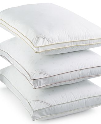 Calvin Klein Tossed Logo Print Density Down Alternative Gusset Pillows, Hypoallergenic