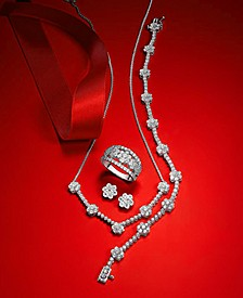Diamond Flower Jewelry in 14k White Gold, Created for Macy's