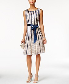 Sleeveless Belted A-Line Dress
