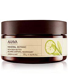 Ahava Mineral Botanic Rich Body Butter Lemon & Sage