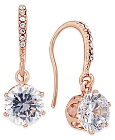 Rose Gold-Tone Cubic Zirconia Drop Earrings, Created for Macy's