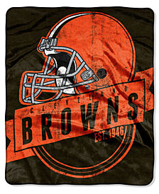 Northwest Company Cleveland Browns Grand Stand Plush Throw Blanket