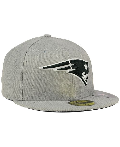 ... New Era New England Patriots Heather Black White 59FIFTY Fitted Cap ... 1ac421d9d