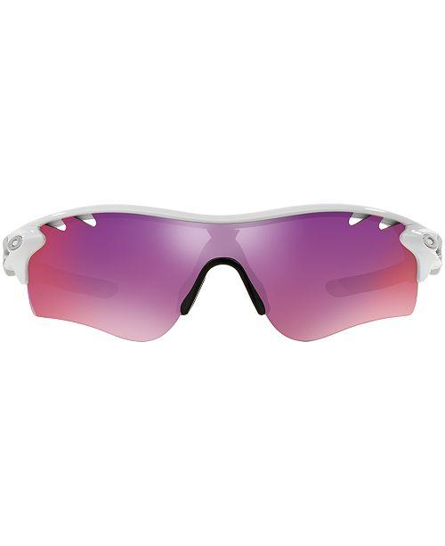 a944a11dad ... polished white frame prizm ruby lenses 3ee7f 1a35d  cheapest oakley  radarlock path prizm road sunglasses oo9181 sunglasses by sunglass hut men  macys ...