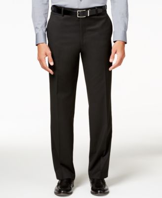 Men's Traveler Black Solid Big and Tall Classic-Fit Pants, Created for Macy's