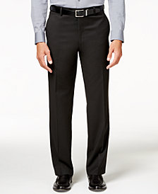 Alfani Men's Traveler Black Solid Big and Tall Classic-Fit Pants, Created for Macy's