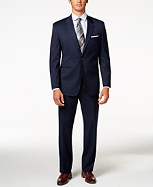 Alfani Men's Traveler Navy Solid Classic-Fit Suit Separates, Created for Macy's