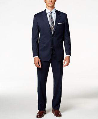 Alfani Men's Traveler Navy Solid Classic-Fit Suit Separates ...