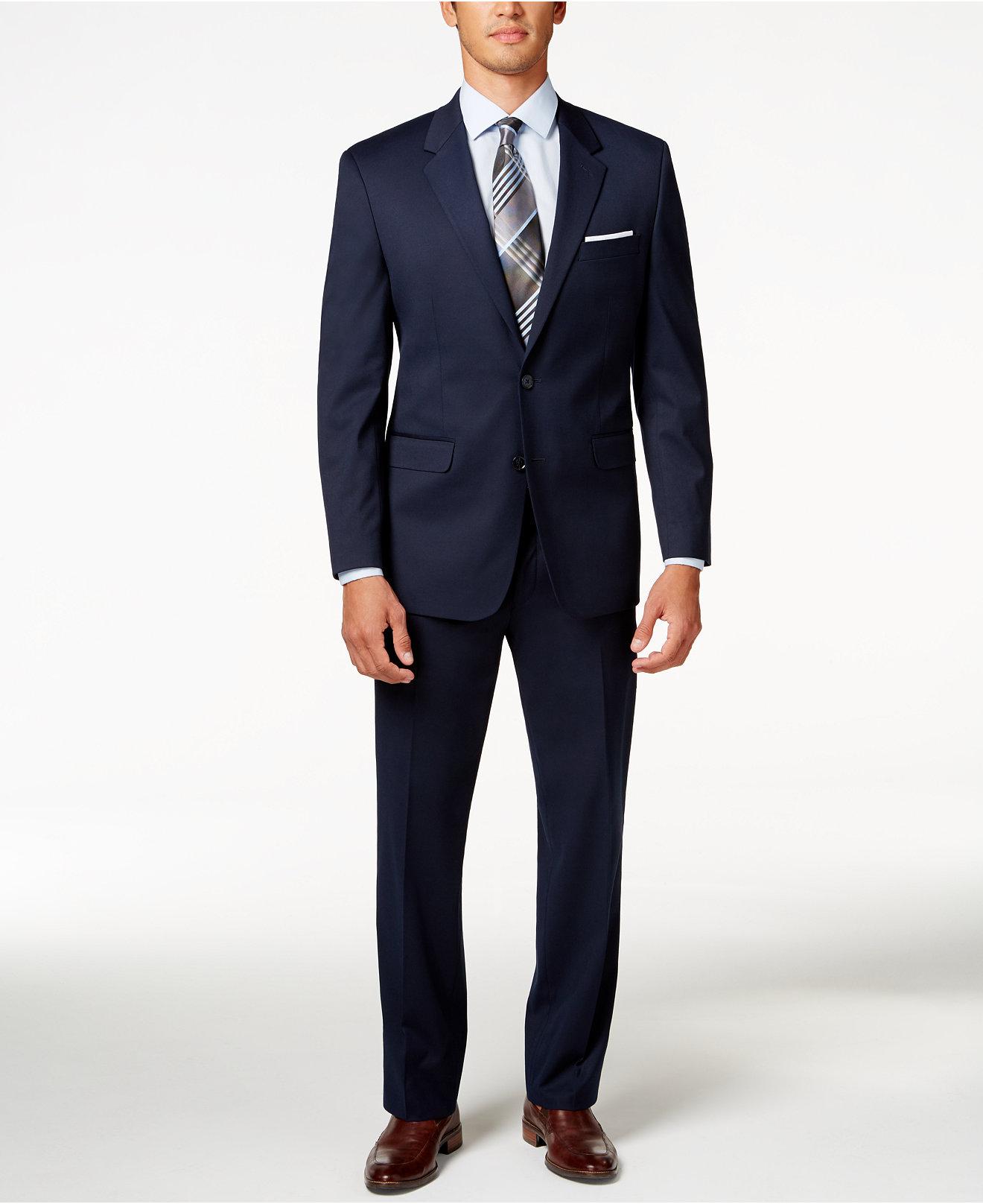 Alfani Men's Traveler Navy Solid Classicfit Suit Separates, Created For  Macy's