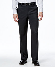 Lauren Ralph Lauren Charcoal Solid Total Stretch Slim-Fit Pants