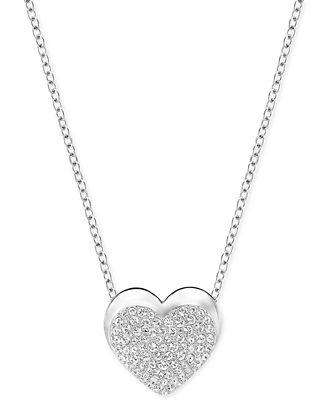Swarovski Pav� Heart Pendant Necklace