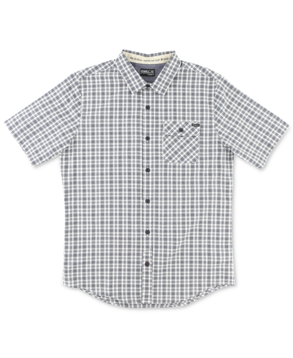 O'Neill Men's Emporium Check Short-Sleeve Shirt