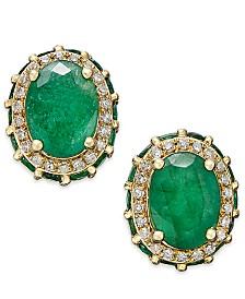 Emerald 3 7 8 Ct T W And White Shire 1