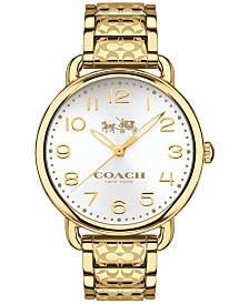 COACH Women's Delancey Gold-Tone Ion-Plated Stainless Steel Bracelet Watch 36mm