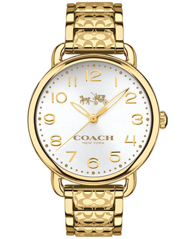 Coach Women S Delancey Gold Tone Ion Plated Stainless