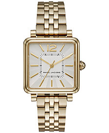 Marc Jacobs Women's Vic Gold-Tone Stainless Steel Bracelet Watch 30mm