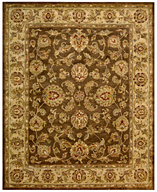 "Nourison Rajah Antique Tabriz Brown 8'3"" x 11'6"" Area Rug"