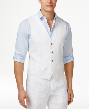1950s Style Mens Clothing Tasso Elba Mens Linen Vest Only at Macys $34.99 AT vintagedancer.com