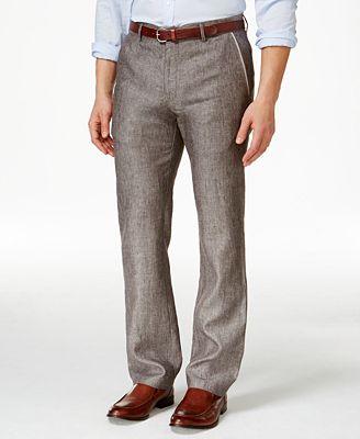 Tasso Elba Men's 100% Linen Pants, Only at Macy's - Pants - Men ...
