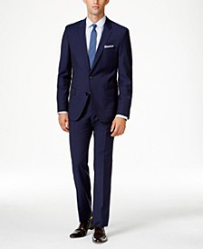 HUGO Men's Blue Slim-Fit Suit Separates