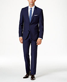 HUGO by Hugo Boss Men's Blue Extra Slim-Fit Suit Separates