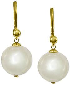 18k Vermeil Imitation Pearl Drop Earrings