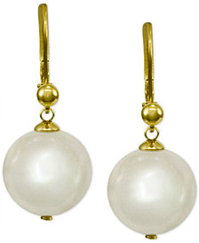 Majorica 18k Vermeil Imitation Pearl Drop Earrings