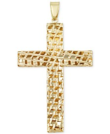 Reversible Cross Pendant in 14k Gold