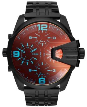 Diesel Men's Chronograph Uberchief Black Ion-Plated Stainless Steel Bracelet Watch 55x62mm DZ7373