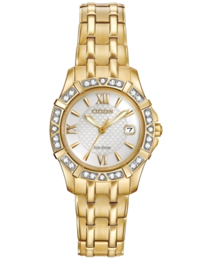 Citizen Women's Eco-Drive Diamond Accent Gold-Tone Stainless