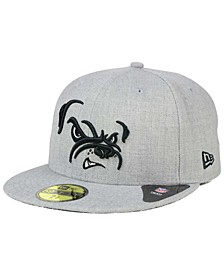 Cleveland Browns Heather Black White 59FIFTY Fitted Cap